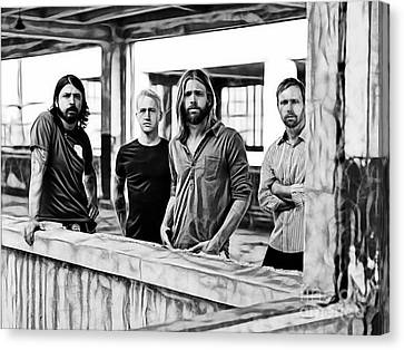 Celebrities Canvas Print - Foo Fighters Collection by Marvin Blaine