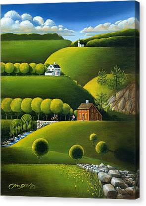 Foothills Of The Berkshires Canvas Print by John Deecken