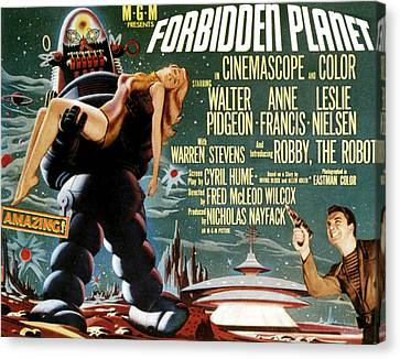 Forbidden Planet, Left Robby The Robot Canvas Print by Everett