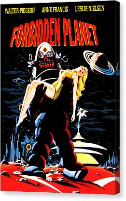Jbp10ma14 Canvas Print - Forbidden Planet, Robby The Robot by Everett