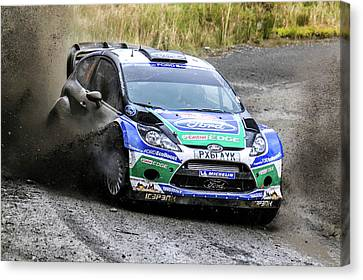 Ford Focus Wrc Rally Gb Canvas Print