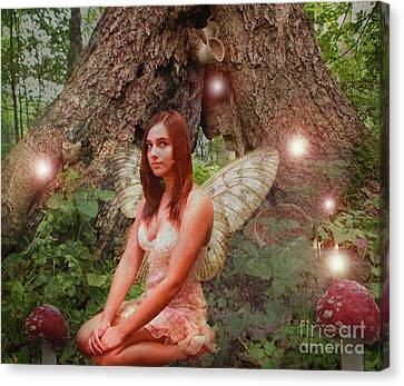 Forest Fairy Canvas Print by Patricia Ridlon