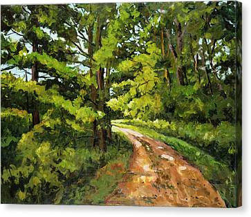 Forest Pathway Canvas Print by Alexandra Maria Ethlyn Cheshire