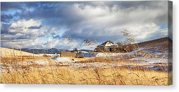 Forgotten Farmhouse Canvas Print by Theresa Tahara