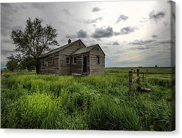 Abandoned House Canvas Print - Forgotten On The Prairie by Aaron J Groen