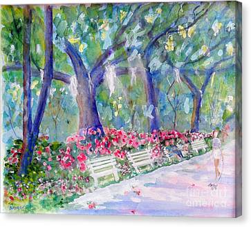 Forsyth Park Savannah Canvas Print by Doris Blessington