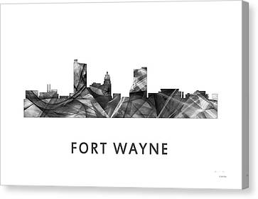 Indiana Landscapes Canvas Print - Fort Wayne Indiana Skyline by Marlene Watson