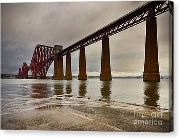Forth Rail Bridge Canvas Print by Nichola Denny