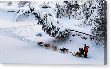 Snow-covered Landscape Canvas Print - Forward by Ed Boudreau