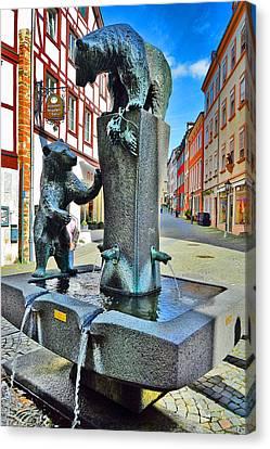 Fountain. Bernkastel-kues. Germany. Canvas Print by Andy Za