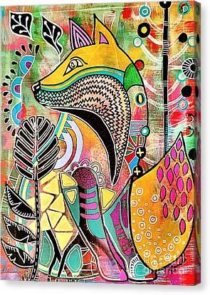Fox Canvas Print by Amy Sorrell