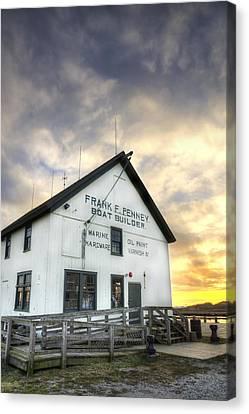 Frank F. Penney Boat Builder Canvas Print by Steve Gravano