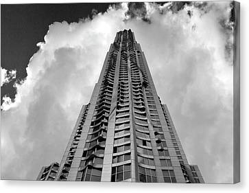Daniel Canvas Print - Frank Gehry High Rise Lower Manhattan by Robert Ullmann