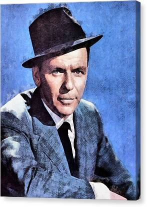 Frank Sinatra Hollywood Singer And Actor Canvas Print by John Springfield
