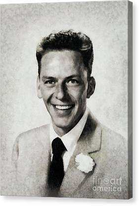 Frank Sinatra Canvas Print - Frank Sinatra, Legend By Js by John Springfield