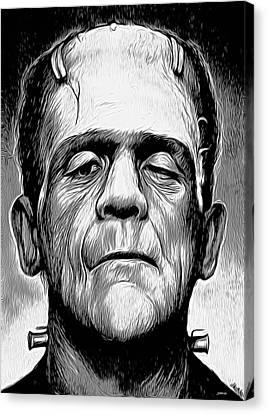 Frankenstein Canvas Print by Greg Joens
