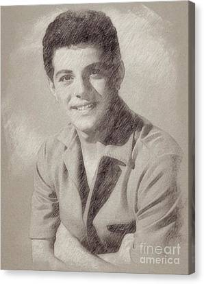 Hepburn Canvas Print - Frankie Avalon Singer by Frank Falcon
