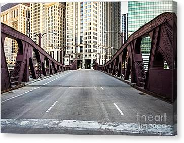 Franklin Orleans Street Bridge Chicago Loop Canvas Print
