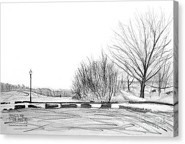 Franklin Park Canvas Print by Takao Shinzawa