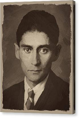 Franz Kafka Canvas Print by Afterdarkness