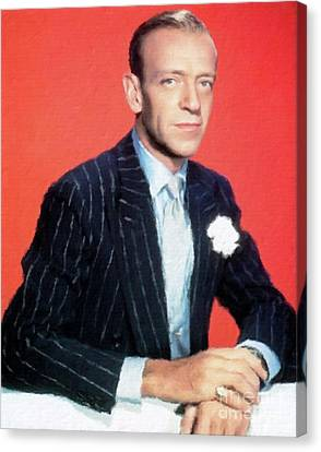 Fred Astaire Hollywood Legend Canvas Print by Mary Bassett