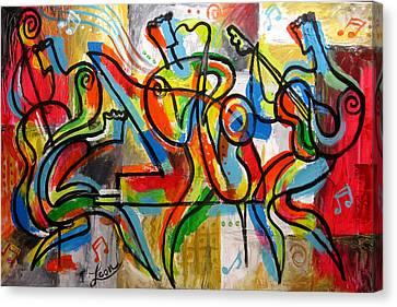 Free Jazz Canvas Print by Leon Zernitsky