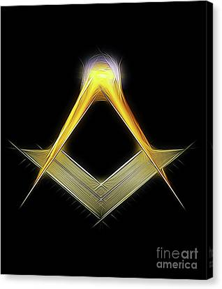 Freemason Symbol By Raphael Terra Canvas Print by Raphael Terra