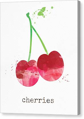 Fresh Cherries Canvas Print by Linda Woods