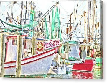Canvas Print - Fresh Shrimp Dockside by Scott Pellegrin