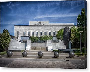 Downtown Nashville Canvas Print - Frist Center For The Arts by Mike Burgquist