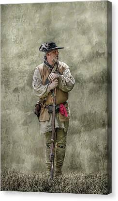 Frontiersman Portrait Canvas Print by Randy Steele