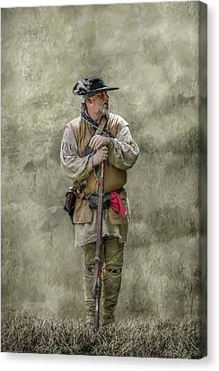 Frontiersman Portrait Canvas Print by Randy Steele