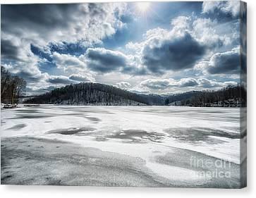 Frozen Lake Canvas Print by Thomas R Fletcher
