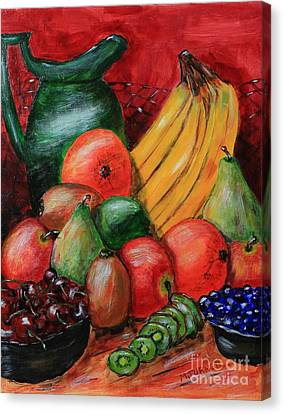 Fruit And Pitcher Canvas Print