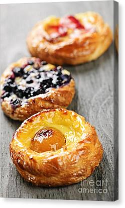 Fruit Danishes Canvas Print by Elena Elisseeva