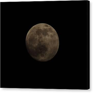 Full Moon Canvas Print by Thomas  MacPherson Jr