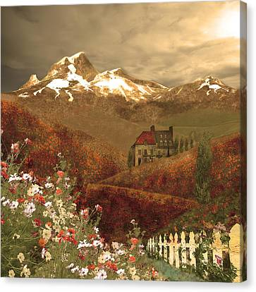 Full Mythical Landscape Canvas Print by Jeff Burgess