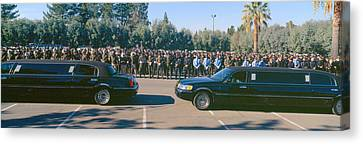 Melancholy Canvas Print - Funeral Service For Police Officer by Panoramic Images