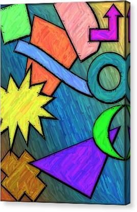 Funky Fanfare Canvas Print by Kyle West