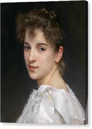 Gabrielle Cot Canvas Print by William-Adolphe Bouguereau