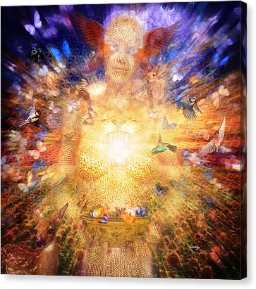 Gaia's Vibe Canvas Print by Robby Donaghey