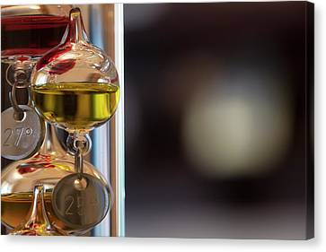 Canvas Print featuring the photograph Galileo Thermometer by Jeremy Lavender Photography