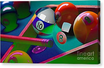 Game Room Billards Canvas Print by Marvin Blaine