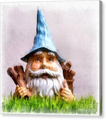 Garden Gnome Canvas Print by Edward Fielding