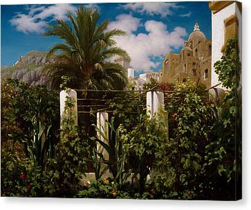 Garden Of An Inn, Capri Canvas Print by Frederic Leighton