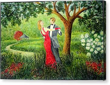 Canvas Print featuring the painting Garden Party by Thomas Kuchenbecker