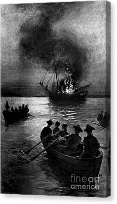 Gaspee Affair, 1772 Canvas Print by Science Source