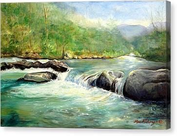 Gatlinburg River Canvas Print by Max Mckenzie