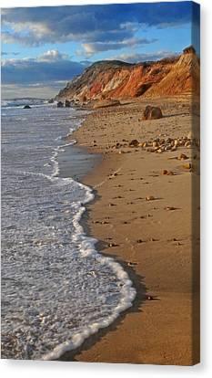 Gayhead Cliffs Marthas Vineyard Canvas Print