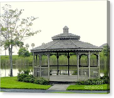 Canvas Print featuring the photograph Gazebo by Terri Mills
